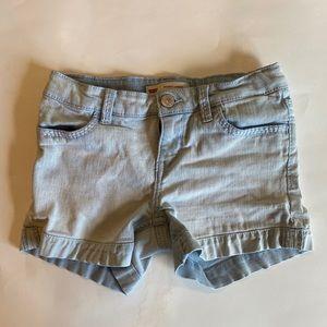 Levi's shorty shorts girls size 8 regular